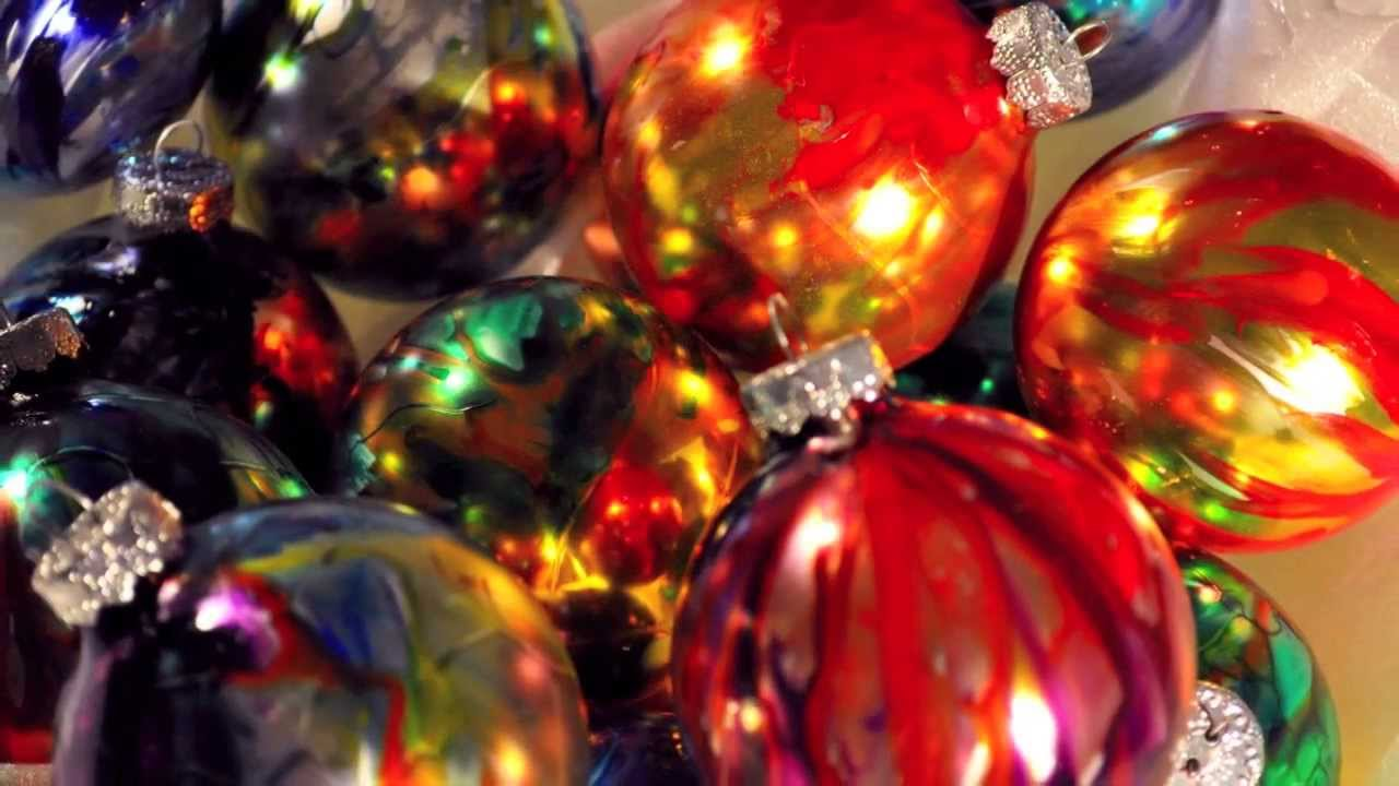 Beautiful glass ornaments - Beautiful Hand Painted Glass Ornaments From Naked Eye Studios