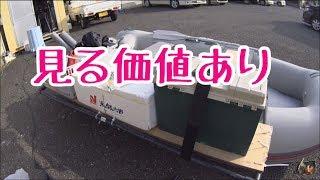 2馬力ゴムボート簡単改造。外に棚を作る♪