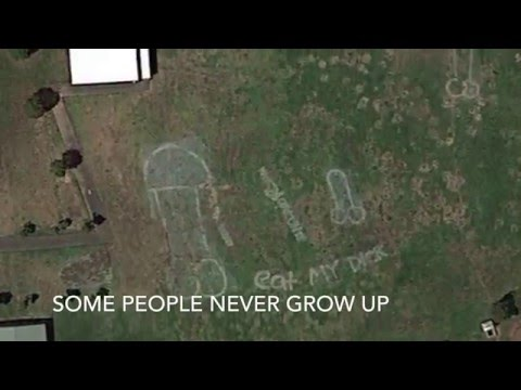 Graffiti that can be seen from space? Warning - Graphic Images