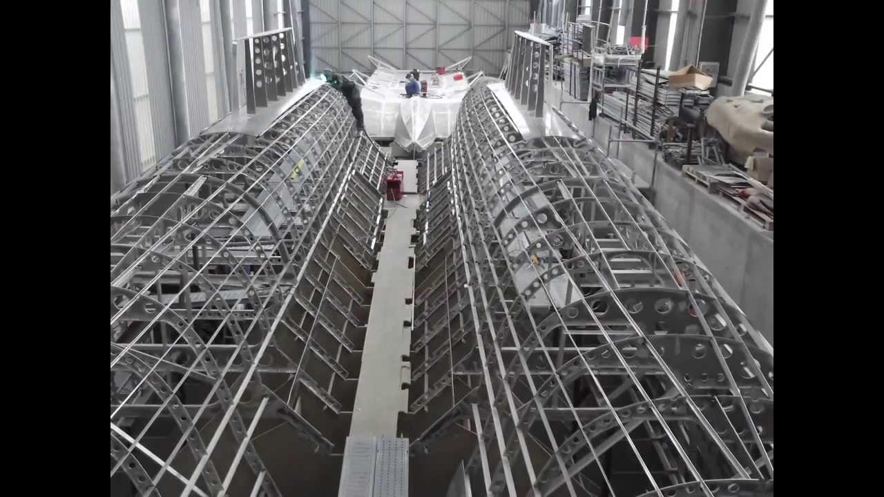 Catamaran Aluminum hull constructionşase. ek inci ...