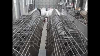 Catamaran Aluminum hull constructionşase. ek inci -alüminyum Catamaran.