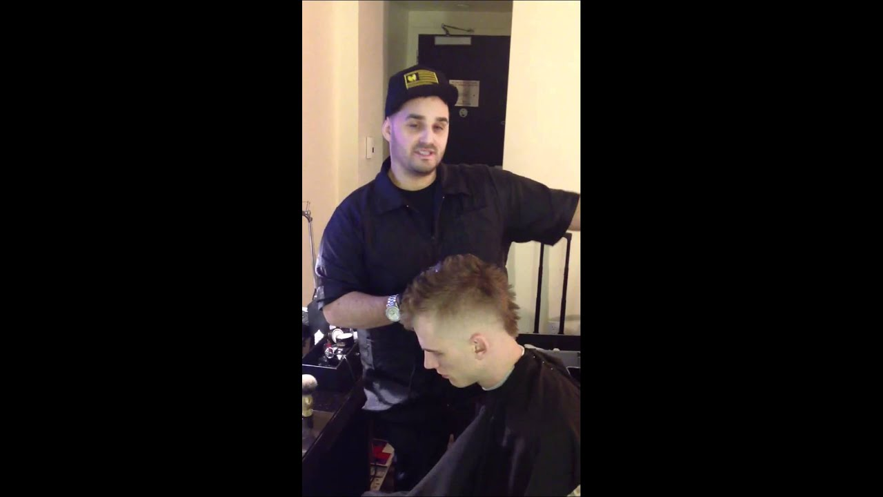 Machine Gun Kelly Getting Haircut Ceehaz Barber