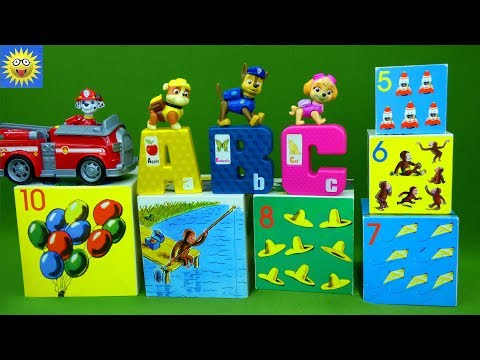 Paw Patrol Puzzle Toys Teaching ABC Alphabet Letters Curious George Counting Numbers Learning