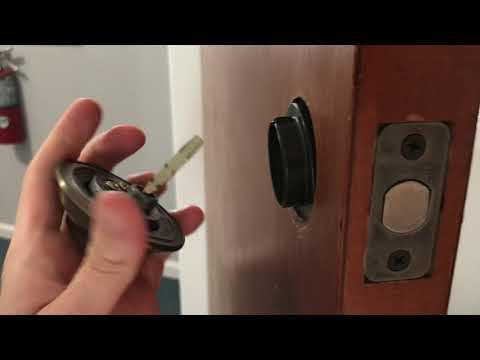 Remove BRINKS Deadbolt with hidden screws - FAST & EASY!