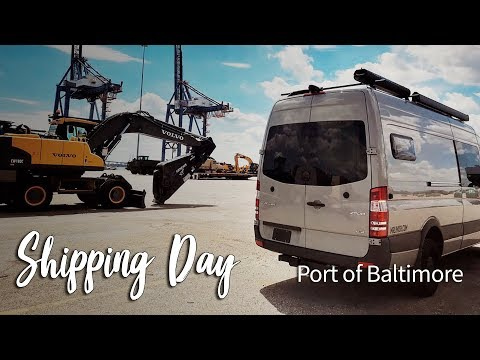 Shipping Our Van to Europe from Baltimore :: Van Family Travel Vlog
