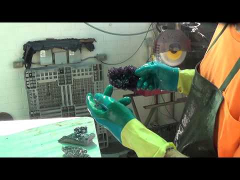 Prep Work: Fluorite Crystals, Okorusu Mine, Otjiwarongo, Otjozondjupa, Namibia - Part 3 of 4