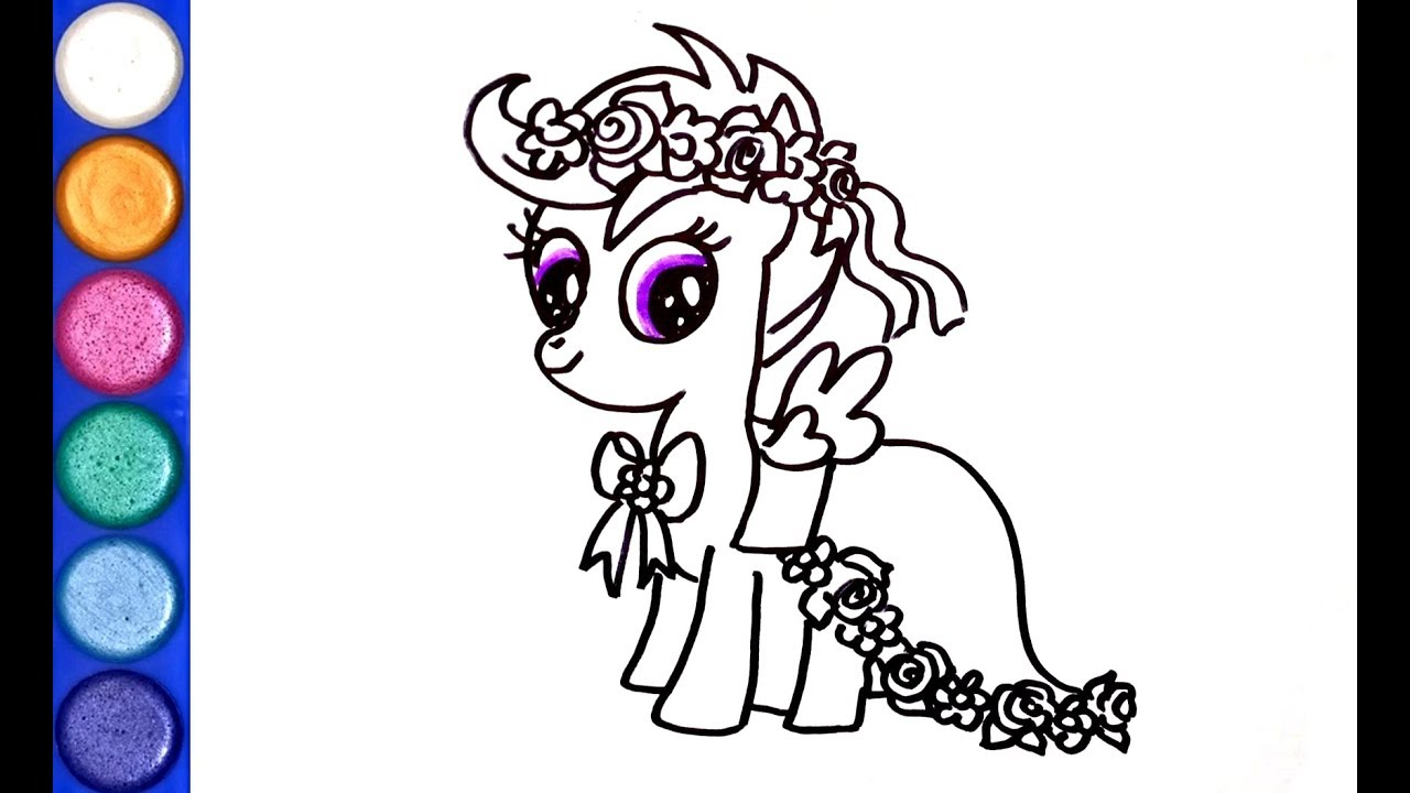My Little Pony - Scootaloo 01 Coloring Page | Coloring Page Central | 720x1280