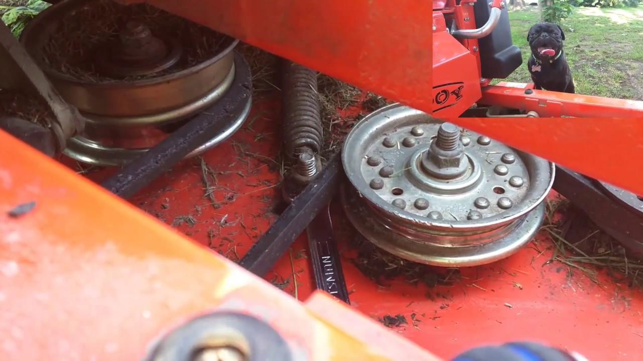 how to change deck belt on husqvarna riding mower