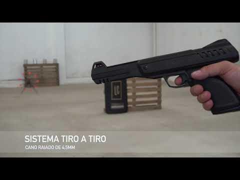 Teste de disparo pistola de pressão P900 Gamo