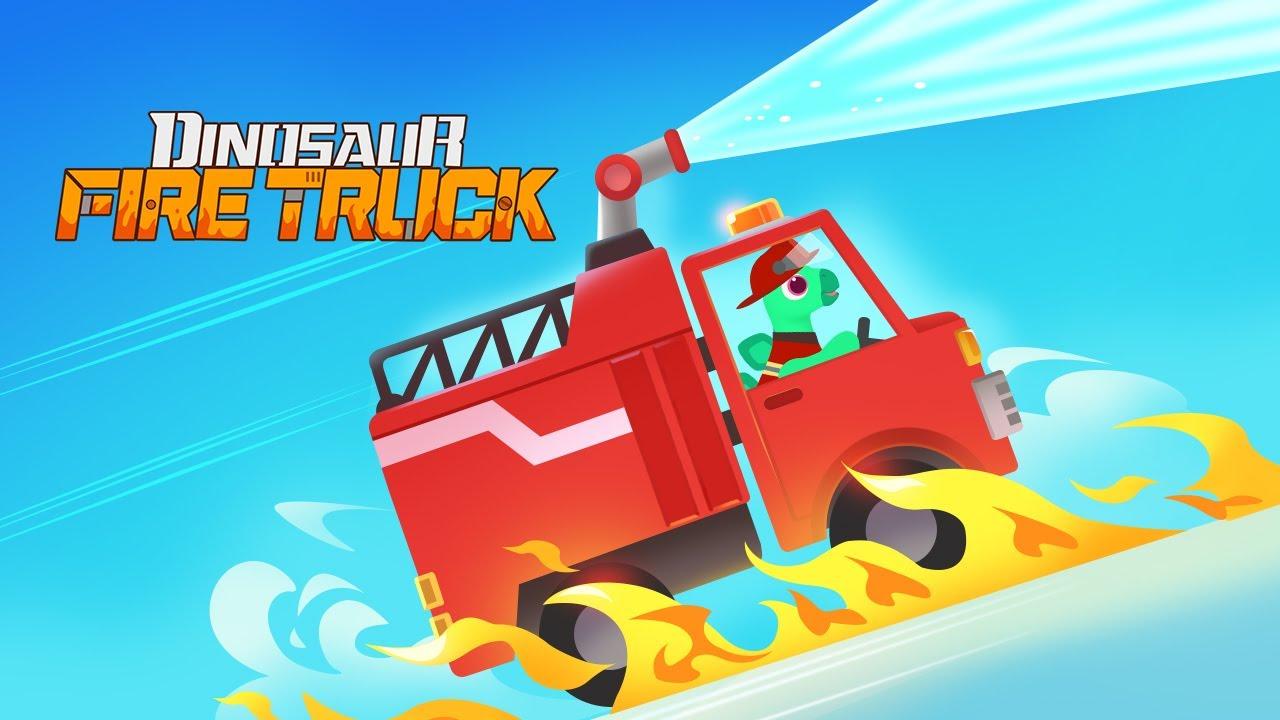 Dinosaur Fire Truck 🚒 #Shorts - Firefighting game for kids   Kids Games   Kids Learning   Yateland