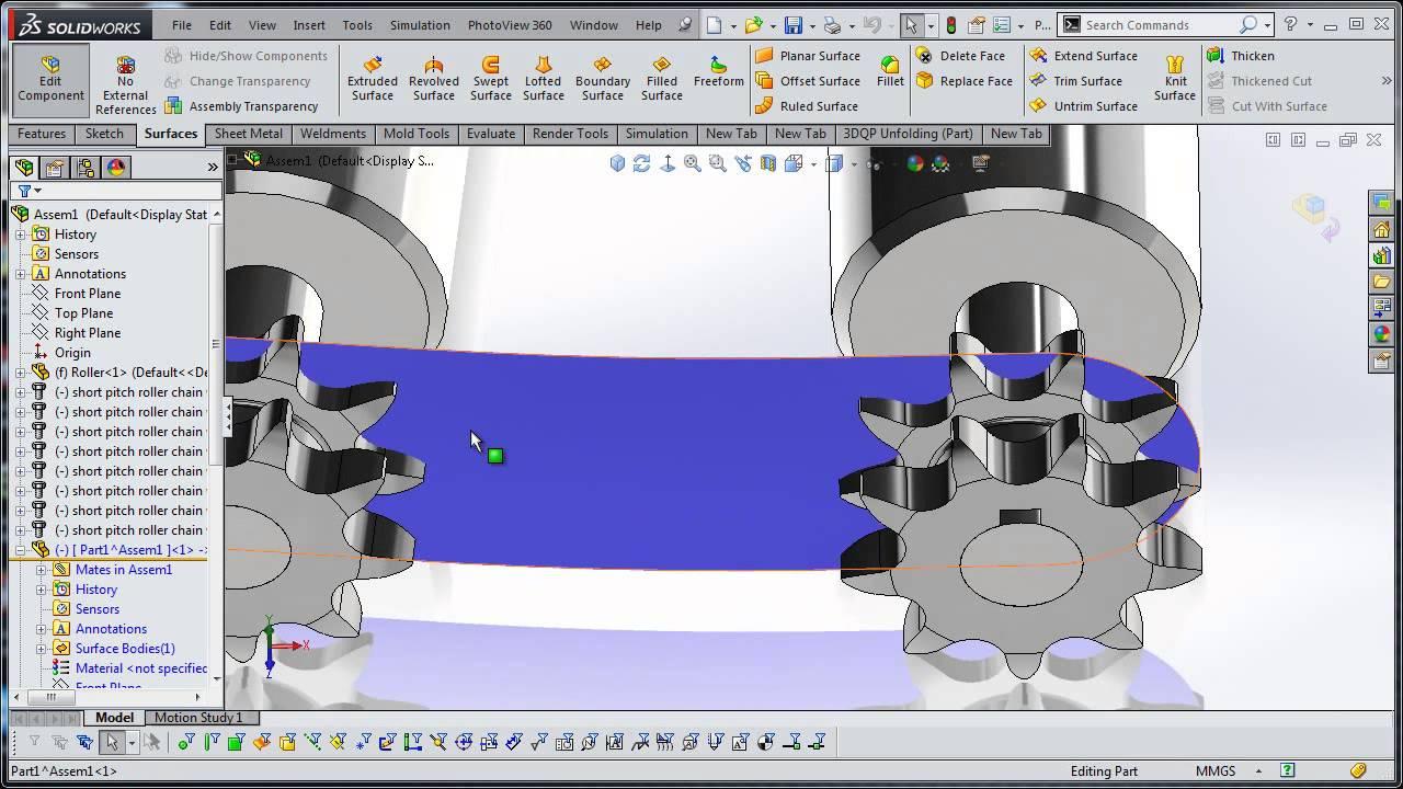 SolidWorks Chain Conveyor