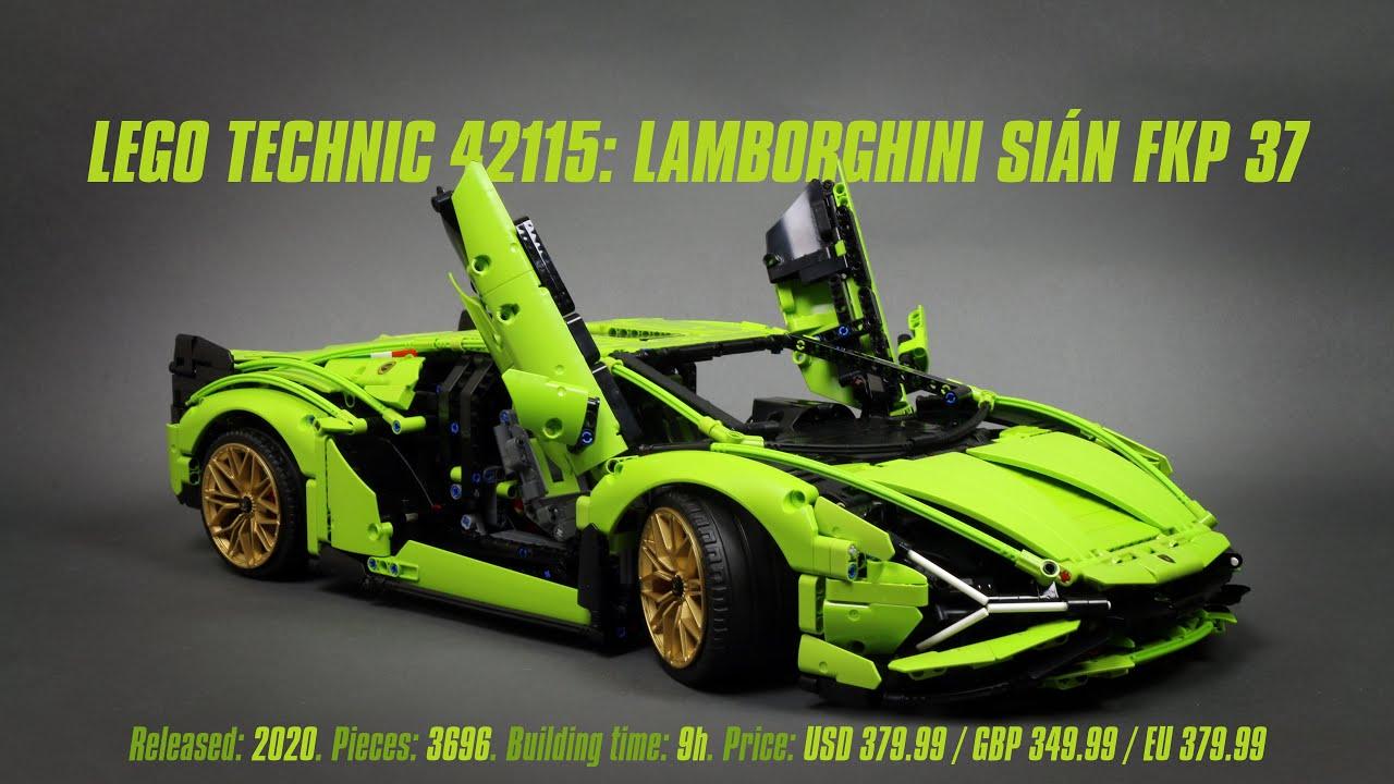 LEGO Technic 42115: Lamborghini Sián FKP 37: Hands-on Review & Parts List [4K]