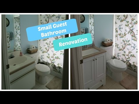 Small Guest Bathroom Renovation | Start to Finish