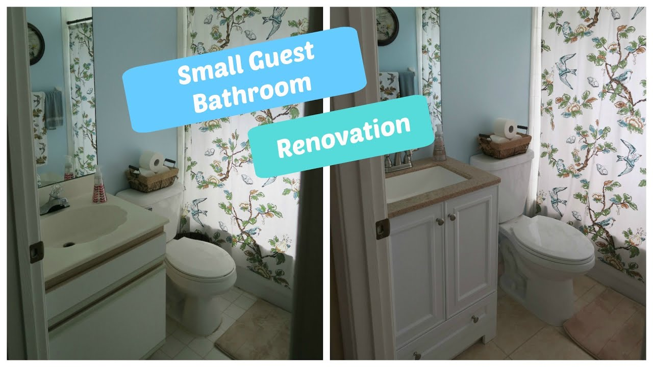 Small Guest Bathroom Renovation Start To Finish