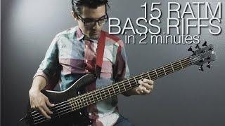 15 RATM Bass Riffs in 2 Minutes - Adam Aarts