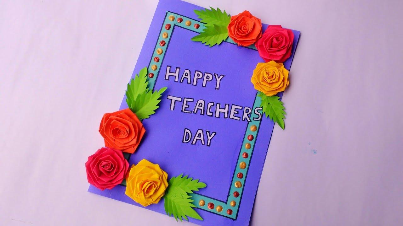 teacher's day card  diy  handmade teachers' day card