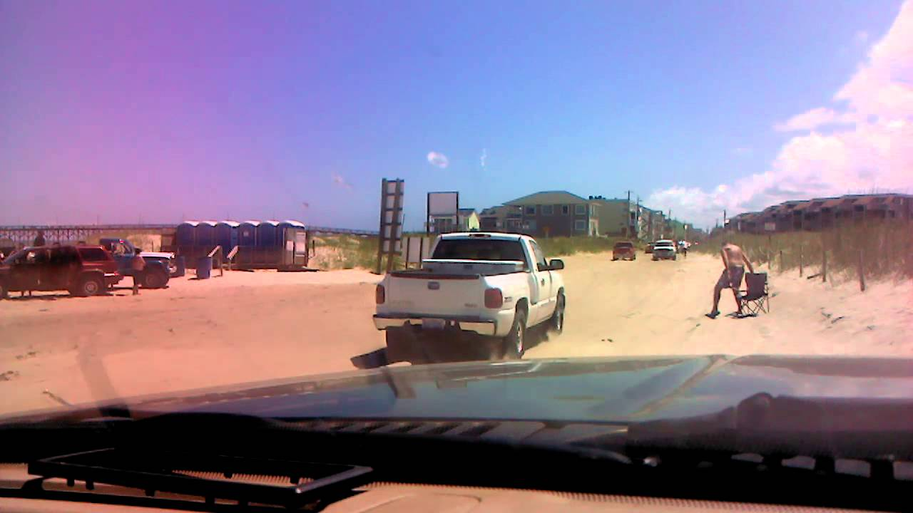 Driving On Carolina Beach North End