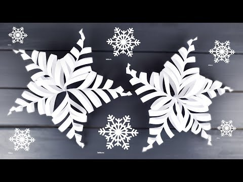 Beautiful 3D Snowflakes from Paper | New Year's Ideas