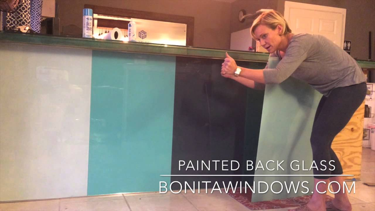 Installing back painted glass - YouTube