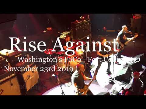 Rise Against Live - Ready To Fall - Washington's FoCo - Fort Collins, CO - November 23rd 2019