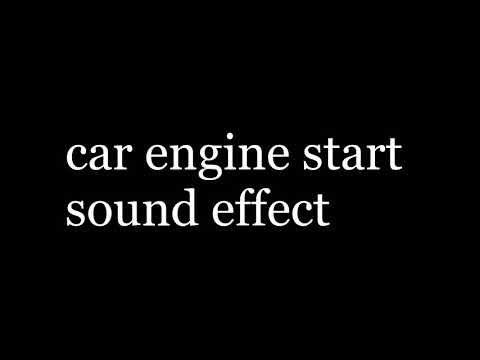 Car engine start sound effect