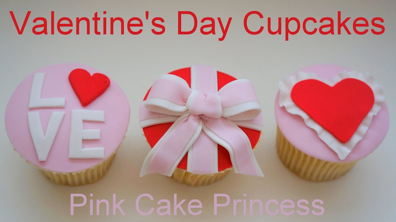 Valentineu0027s Day Cupcakes How To By Pink Cake Princess   YouTube