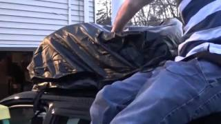Rooftop Cargo Carrier Bag, Car Top Waterproof Luggage Soft Pack Review
