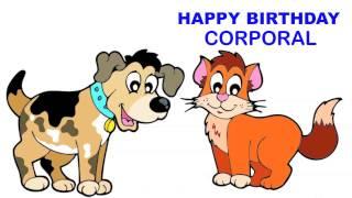 Corporal   Children & Infantiles - Happy Birthday