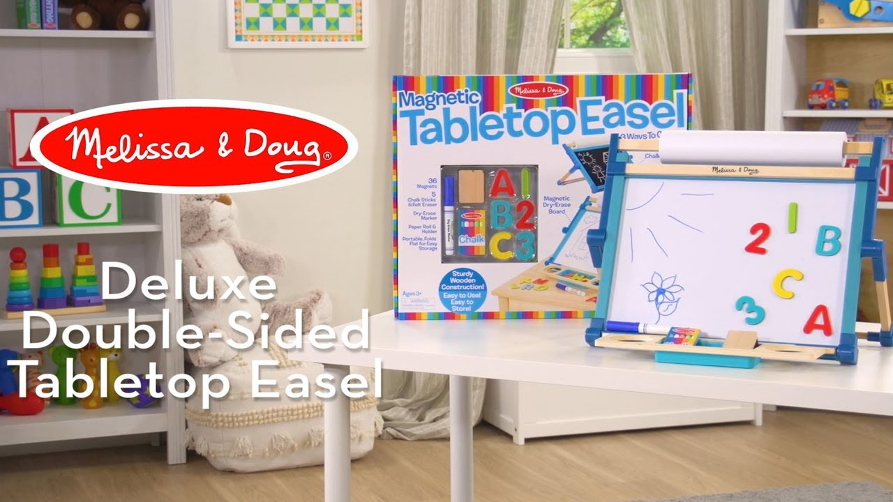 Melissa /& Doug Double-Sided Tabletop Easel
