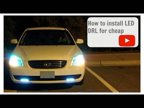 How To Install LED DRL (Daytime Running Light) To Any Car For Cheap Full HD