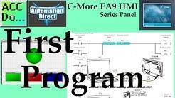 C More EA9 HMI Series Panel First Program