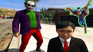 Süper Kahramanlar Tehlikeli Çocuğu Jokerin Elinden Kurtarıyor (GTA 5 Gerçek Hayat)