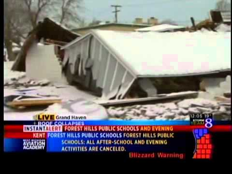 Snow Collapses Lumber Company Roof