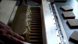 Cutting Bumble Crumble Vanilla Pumpkin Cream Pure Silk Soaps