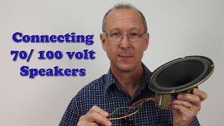 Connecting 8 volt / 8 volt speakers (Constant Voltage)