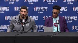 Enes Kanter & Evan Turner Postgame Interview - Game 7 | Nuggets vs Blazers | 2019 NBA Playoffs