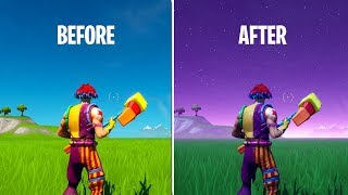 How to CHANGE SKY COLOR IN FORTNITE CREATIVE!