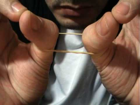 Rubber band thumb trick consider, that