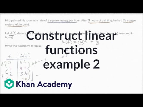 Constructing Linear Functions Example 2 | Algebra I | Khan Academy