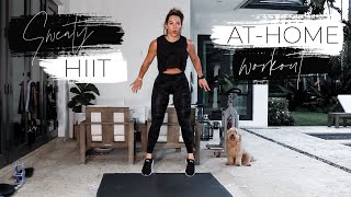 INTENSE AT HOME BODY WEIGHT HIIT WORKOUT TO STAY FIT DURING QUARANTINE + MY FAVE  @lululemon TIGHTS