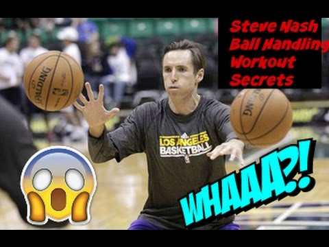 Steve Nash : 6 Minute NBA Ball Handling Workout Secrets |  Point Guard Skills Workout