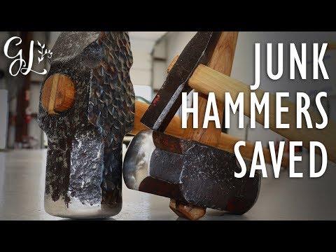 RESTORING JUNK HAMMERS FOR BLACKSMITHING. Restoring Blacksmithing Tools Series.