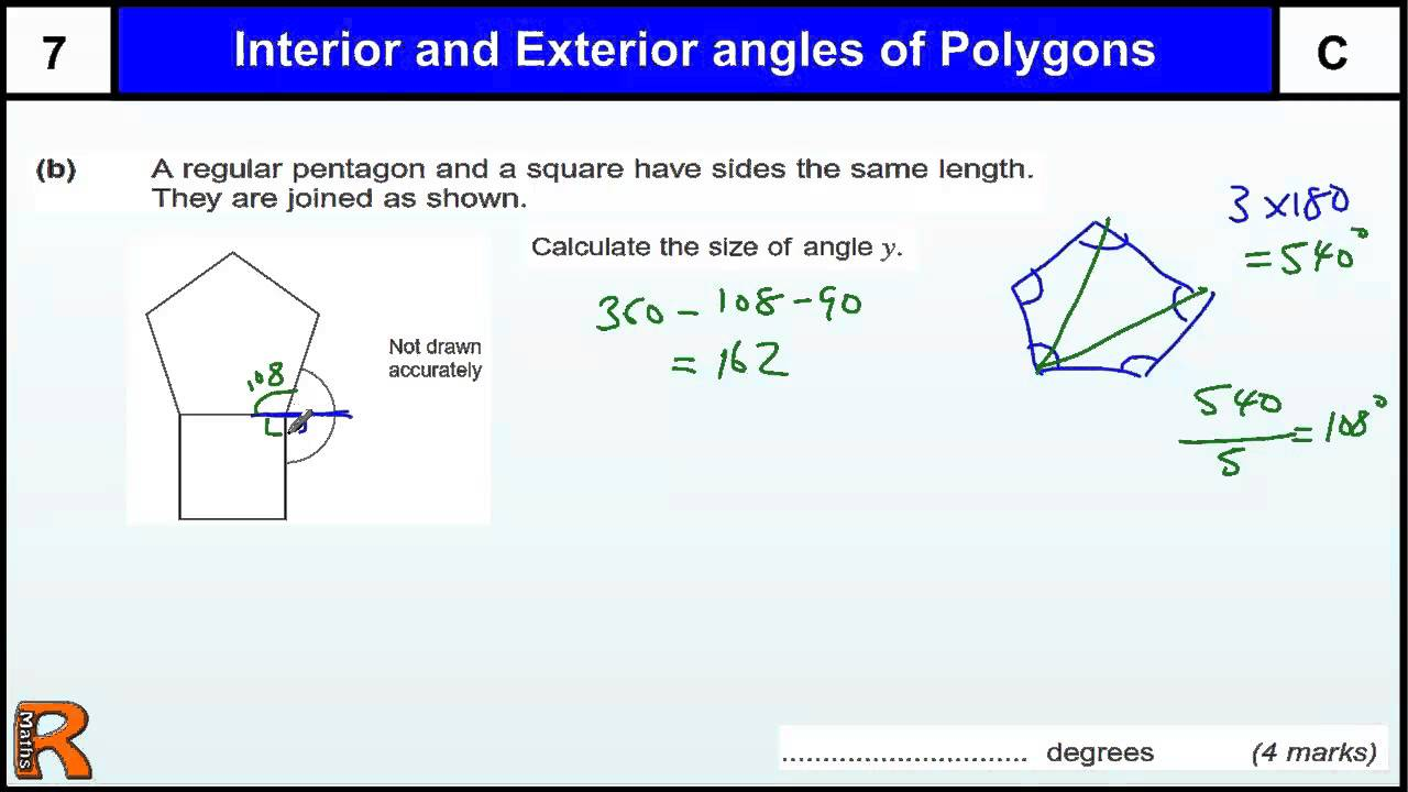 hight resolution of Find Interior and Exterior Angles of Polygons (videos