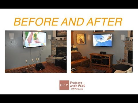 hide home ugly stuff how to hide tv cords wires without. Black Bedroom Furniture Sets. Home Design Ideas