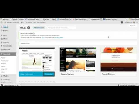 Como instalar e configurar o template conversion wp one free do Jair Rebello