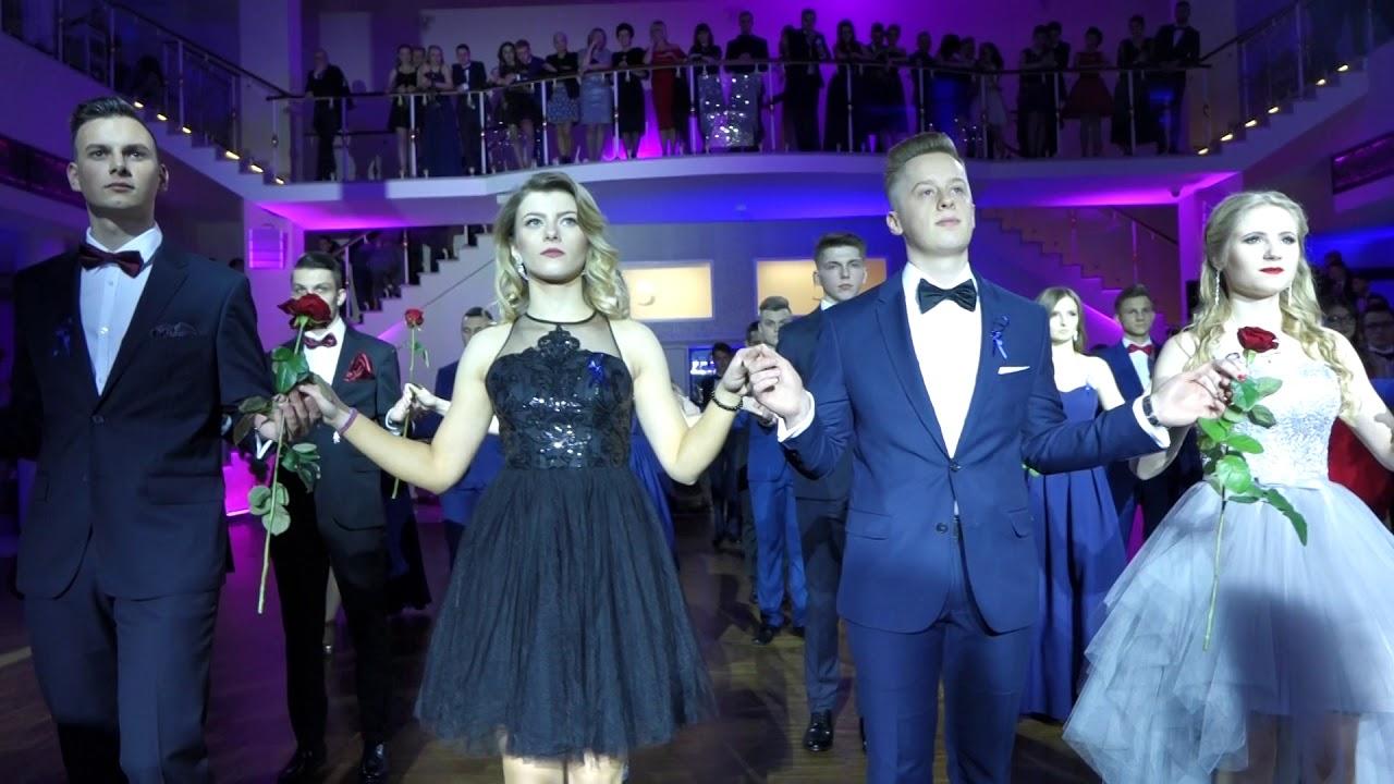 Studniówka I LO Żeromski w Kielcach. Polonez klasowy 5 w hotelu Binkowski 13.01.2018