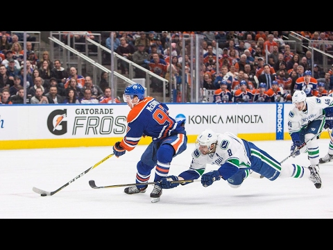 Eberle nets hat trick, McDavid gets 100th point as Oilers top Canucks