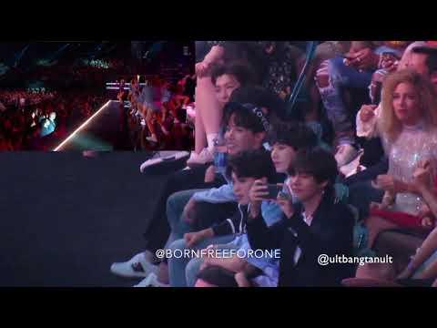 BTS reaction to DUA LIPA @BBMAS