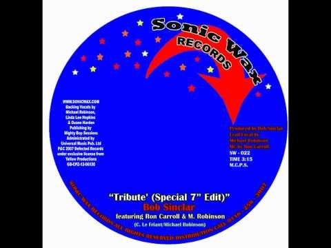 Bob Sinclar - Tribute  - Sonic Wax 022 - BUY IT NOW