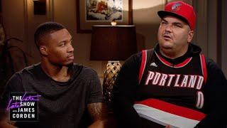 Superfan Ruins Damian Lillard Interview